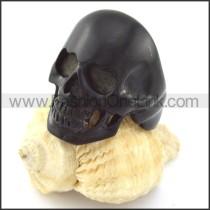 316L Steel Brushing Black Plated  Skull Ring r000898