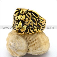 Stainless Steel Lion Ring  r003113