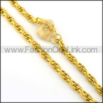 Golden Necklace    n000226