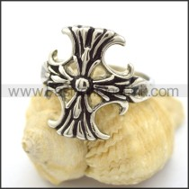 Delicate Stainless Steel Cross Ring  r001815