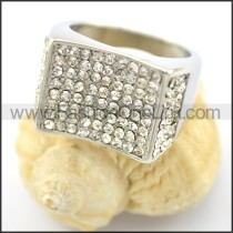 Exquisite Stone Stainless Steel Ring r001622