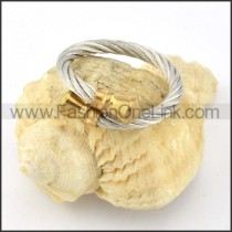 Stainless Steel Classic Rope Ring r000592