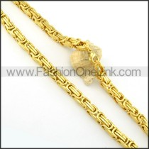 High Quality Golden Plated Necklace     n000399