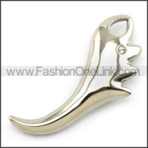 Delicate Stainless Steel Casting Pendant   p003392