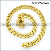 Exquisite Interlocking Plated Necklace n001091