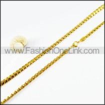 Succinct Golden Plated Necklace     n000126