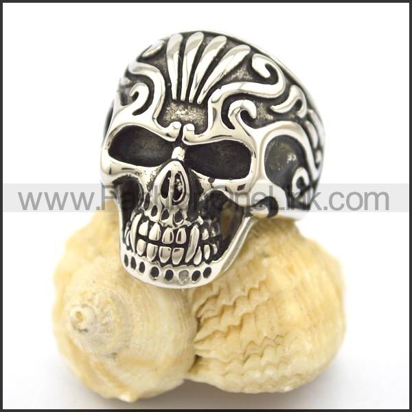 Stainless Steel Skull Ring r002094