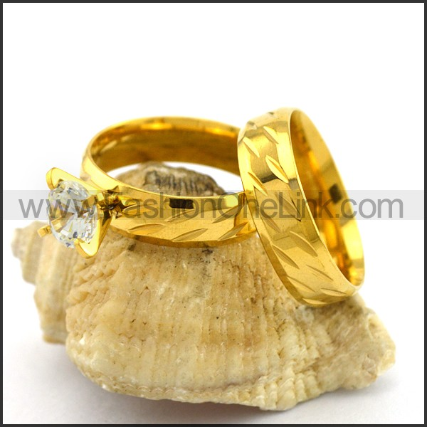 Exquisite Stainless Steel Couple Ring  r003074
