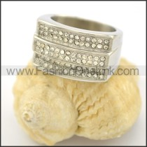 Exquisite Stone Stainless Steel Ring r001616