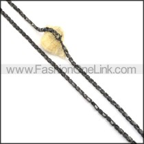 Exquisite Black and Silver Plated Necklace n000515