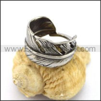 Feather Stainless Steel Casting Ring r002930