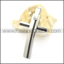 Delicate Stainless Steel Cross Pendant  p001494