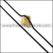 Black Plated Necklace n001055