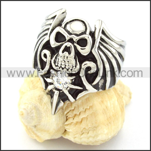 Stainless Steel Skull Design r000675