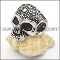 Stainless Steel Punk Style Skull Ring r000345