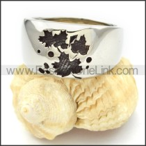 Stainless Steel Leaf Ring r000446