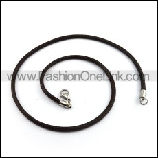 Succinct Leather Necklace n000986