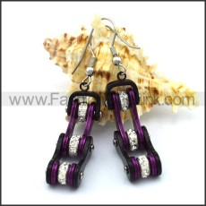 Fashion Stainless Steel Biker Earrings    e001069