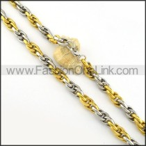 Delicate Two Tone Fashion Necklace  n000228