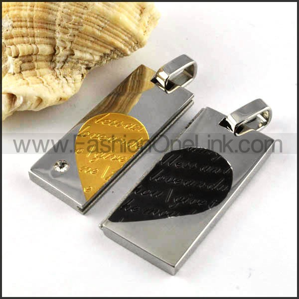 Exquisite Stainless Steel Couple Pendants p000083