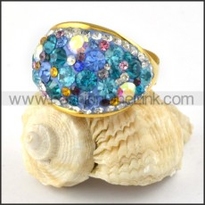 Stainless Steel Beautiful Colorful Stone Ring r000213