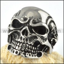 Stainless Steel Punk Rock Biker Vintage Skull Maid Ring r000091