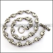Delicate Skull Necklace n001233