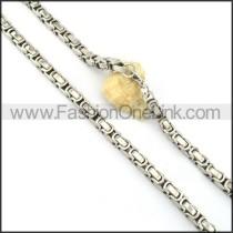 Succinct Silver Necklace  n000148