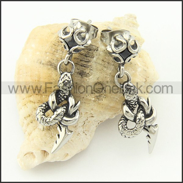 Fashion Stainless Steel Animal Earrings   e000667