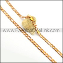 Succinct Golden Plated Necklace n000689