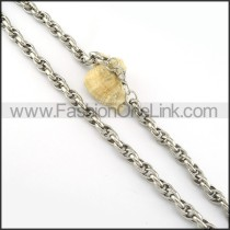 Silver Stamping Necklace     n000277