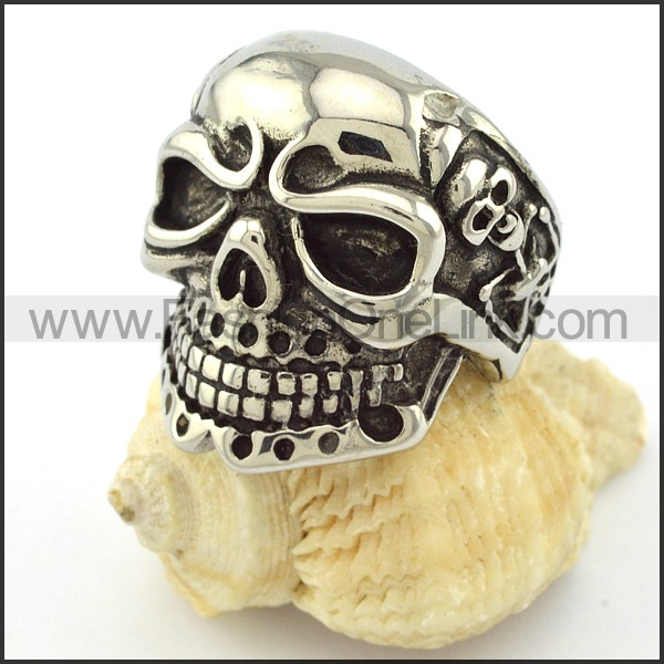 High Quality Steel Skull Ring  r001047
