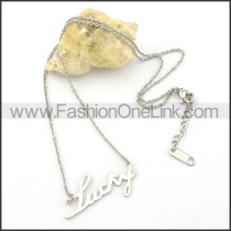 Graceful LUCKY Necklace     n000462
