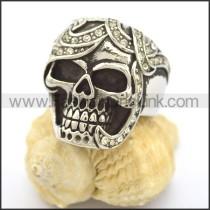 Delicate Stainless Steel Skull Ring r002248