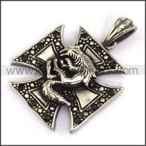 Delicate Stainless Steel Cross Pendant   p003652