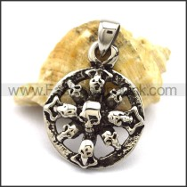 Unique Stainless Steel Skull Pendant  p001885