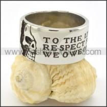 Comfort Fit Skull Casting Ring r001218