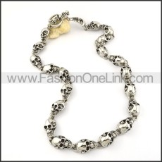 Good Quality Skull Necklace       n000197