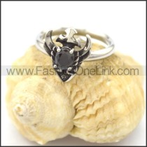 Graceful Stainless Steel Stone Ring  r002080