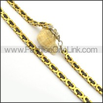 Vintage Two Tone Plated Necklace n000721