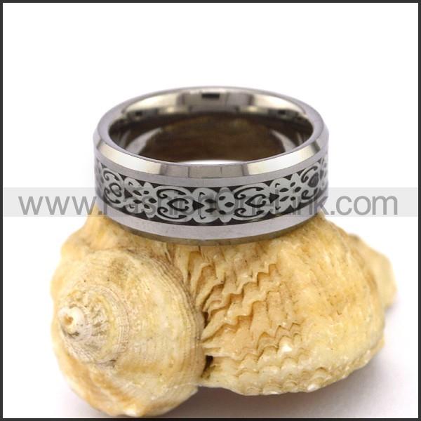 Elegant Stainless Steel Ring r003107
