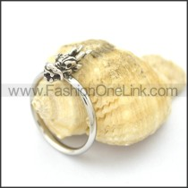 Graceful Stainless Steel Stone Ring  r002087