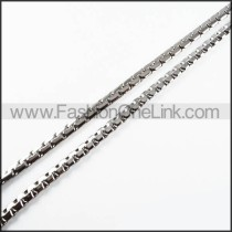 Succinct Silver Stamping Necklace    n000114