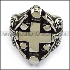 Stainless Steel Cross Ring  r003715