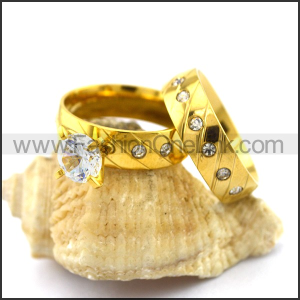 Graceful Stainless Steel Couple Rings  r002979