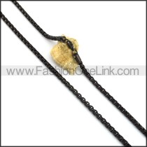 Chic Black Plated Necklace n001056