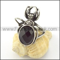 Black Stone Beetle Ring  r001149