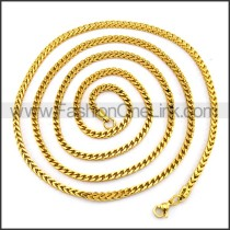 Delicate Stainless Steel Plated Necklace n001225