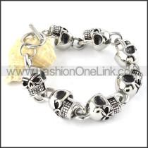 Hot Selling Stainless Steel Skull Bracelet b000348