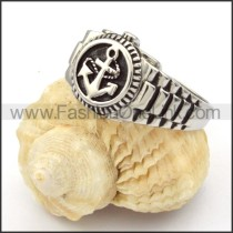 Stainless Steel Unique Anchor Ring  r000337